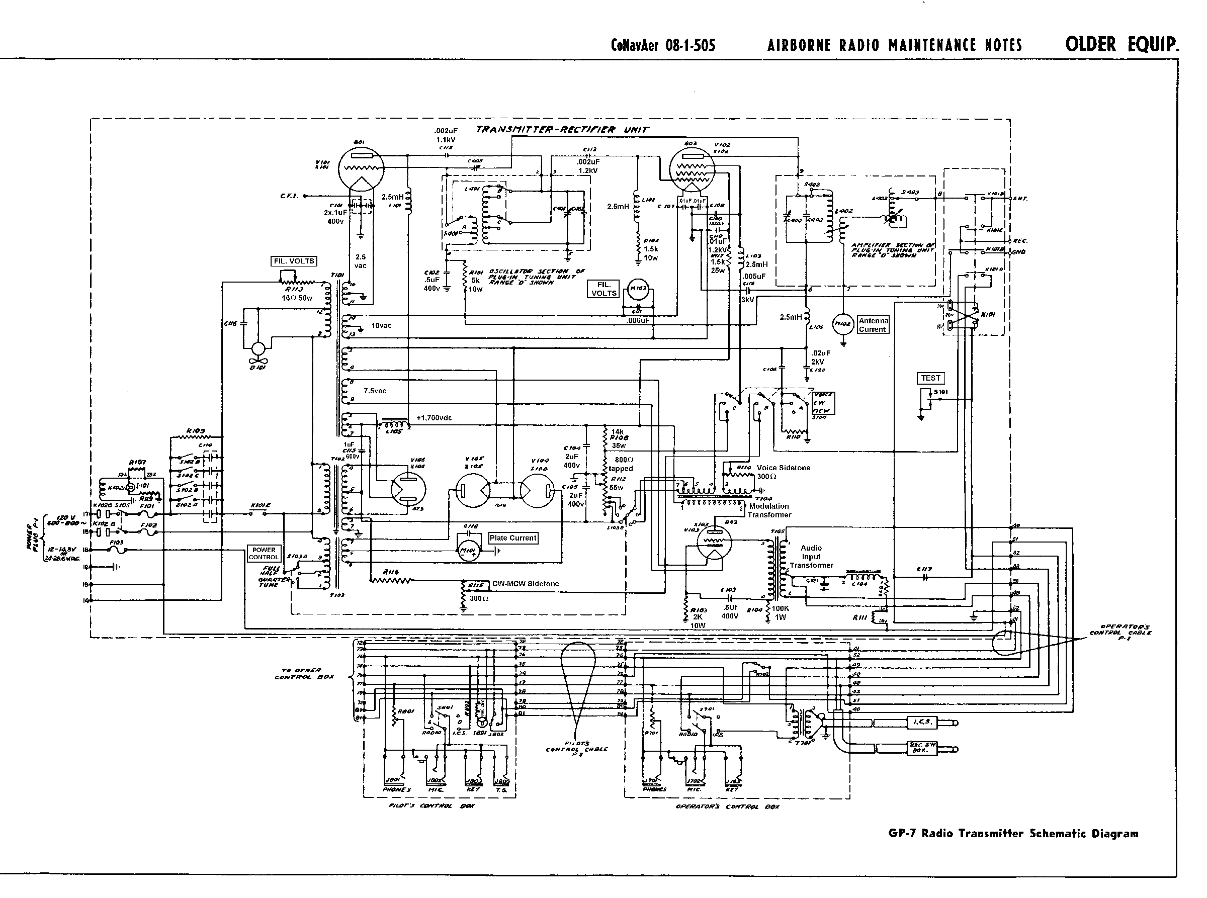 Aircraft Radio Wiring Schematic Auto Electrical Diagram Hmmwv Documents Truck Schematics Boeing
